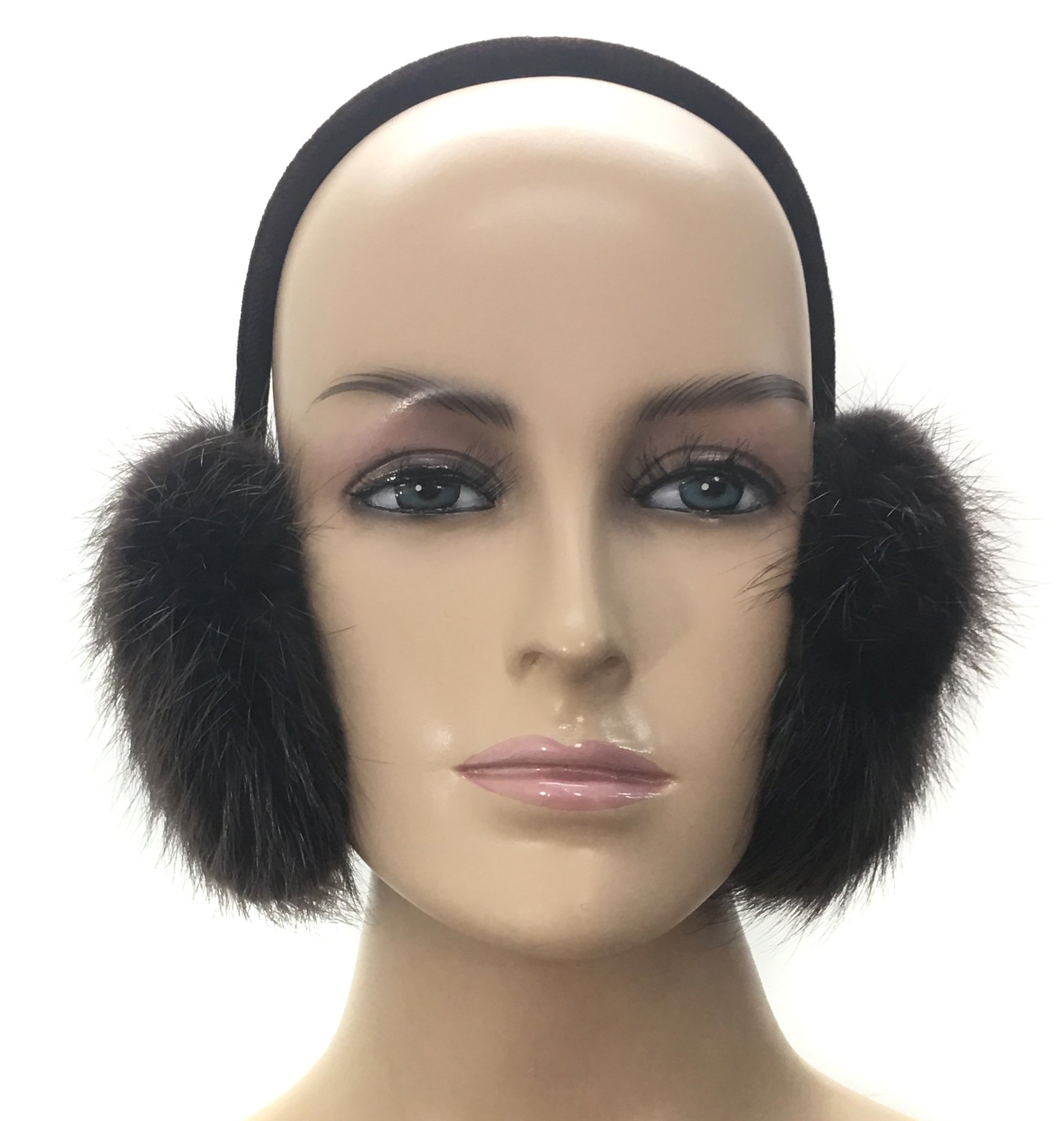 100% Beaver Ear Muff (Brown)
