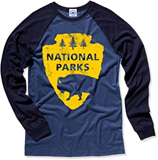 product image for Hank Player U.S.A. National Parks Men's L/S Baseball T-Shirt