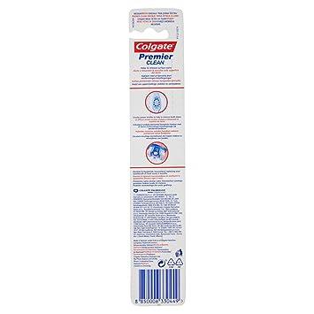 Colgate Premier Clean - Juego de 4 cepillos de dientes, dureza media, 12 g: Amazon.es: Salud y cuidado personal