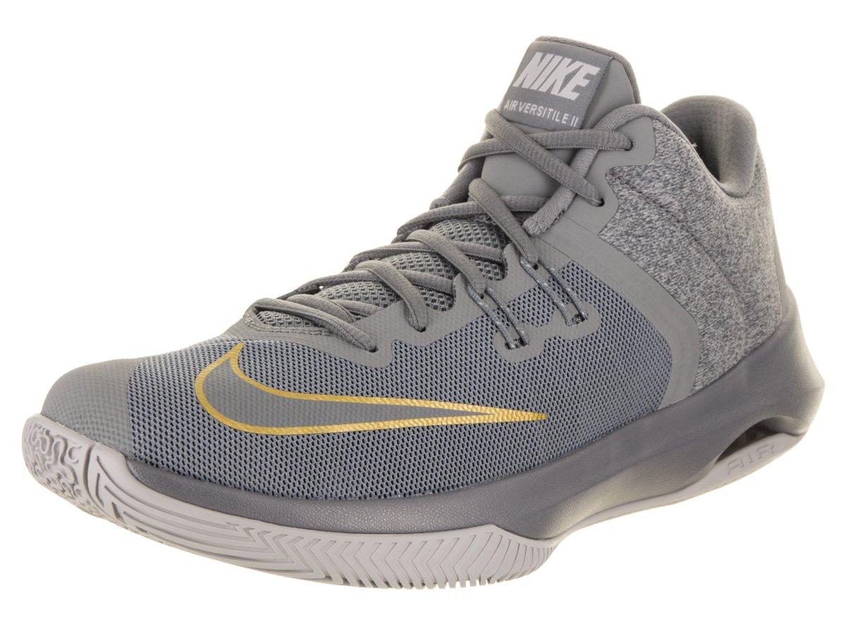 NIKE Men's Air Versitile Basketball Shoe B00MXZRAT4 7 D(M) US|Cool Grey Metallic Gold