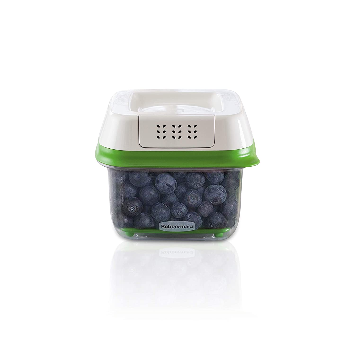 Rubbermaid FreshWorks Produce Saver Food Storage Container, Small, 2.5 Cup, Green 1920480