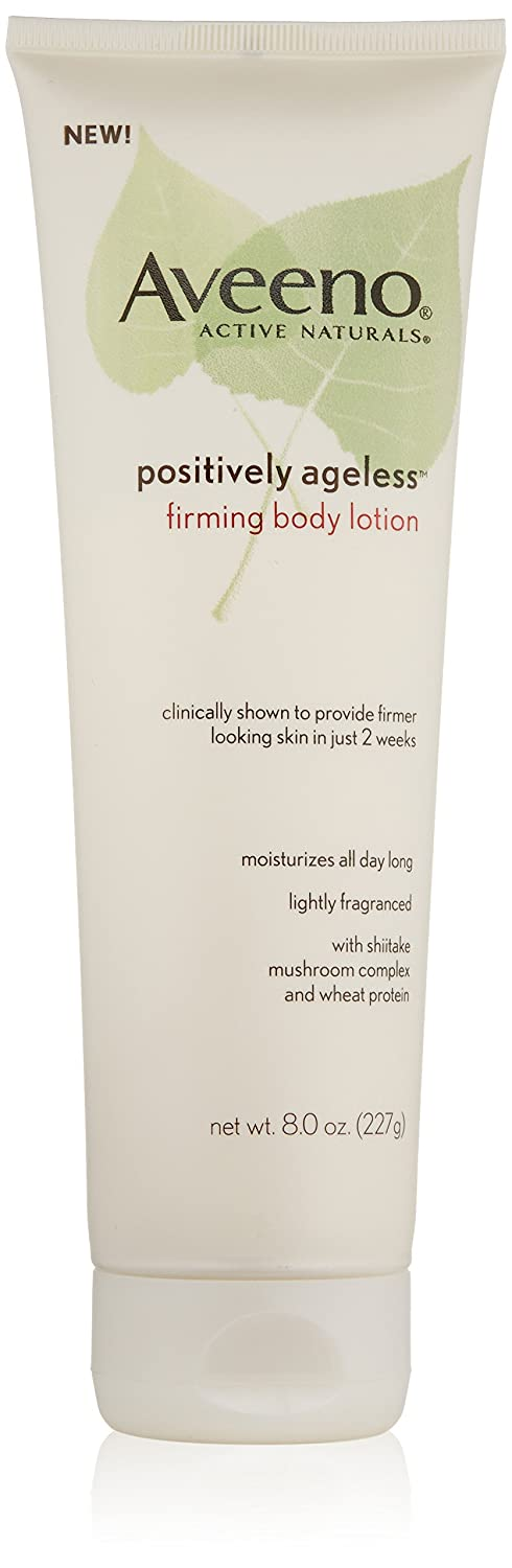 Aveeno Body Moisture Positively Ageless Firming Body Lotion, 8 Ounce (Pack of 3)