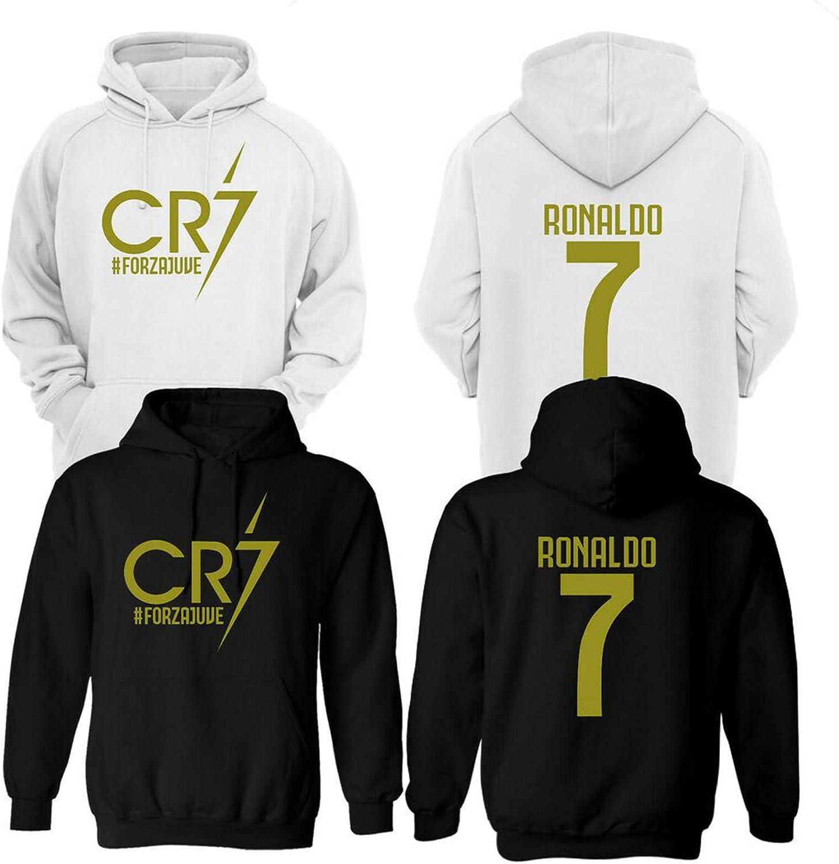 CR7 FORZAJUVE Ronaldo - Sudadera con capucha para fútbol Negro Negro - parte delantera y trasera 5-6 Años: Amazon.es: Ropa y accesorios
