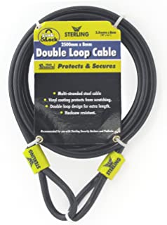 Silverline 647706 Looped Steel Security Cable 2.5m x 8mm