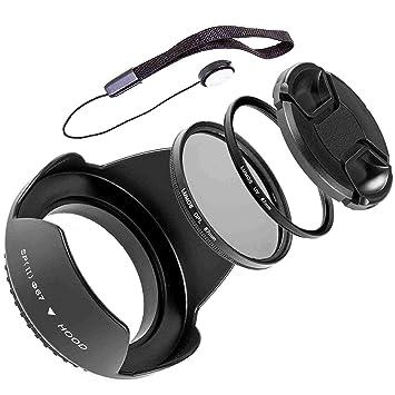 great look wholesale price premium selection Lumos 5 Set d'accessoires avec pare-soleil Filtre UV CPL Filtre polarisant  67 mm Bouchon d'objectif et support pour chaque Objectif Appareil Photo ...