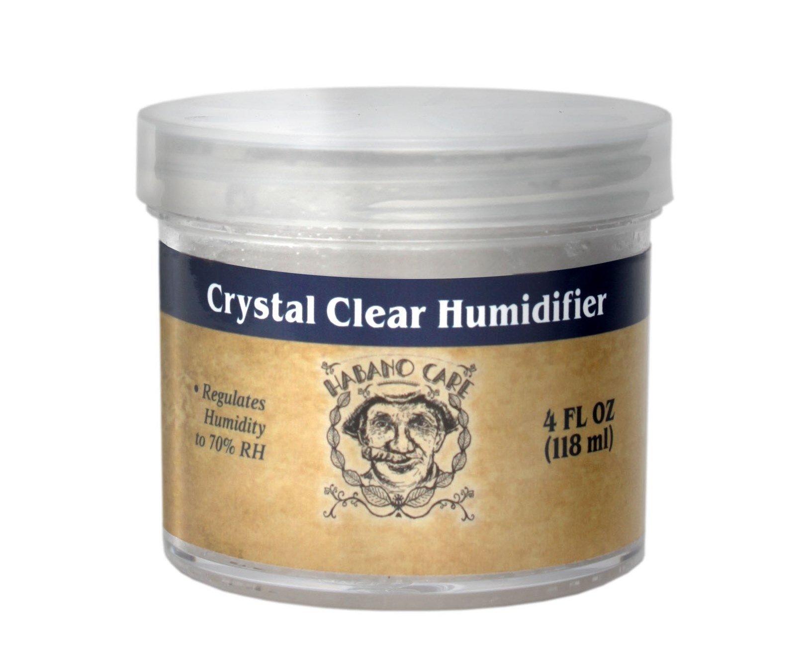 Habano Care - Crystal Clear Cigar Humidor Humidifier Jar 4 oz Gel Humidification Beads
