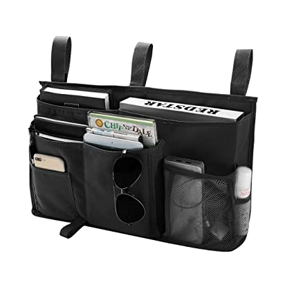 8f3cbc382252 Bseash 8 Pockets 600D Oxford Cloth Caddy Hanging Organizer Bedside Storage  Bag for Bunk and Hospital Beds,Dorm Rooms Bed Rails (Black)