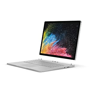 "Microsoft Surface Book 2 HNM-00001 Laptop (Windows 10, Intel i7-8650U, 13.5"" Screen, Storage: 512 GB, RAM: 16 GB) Silver"