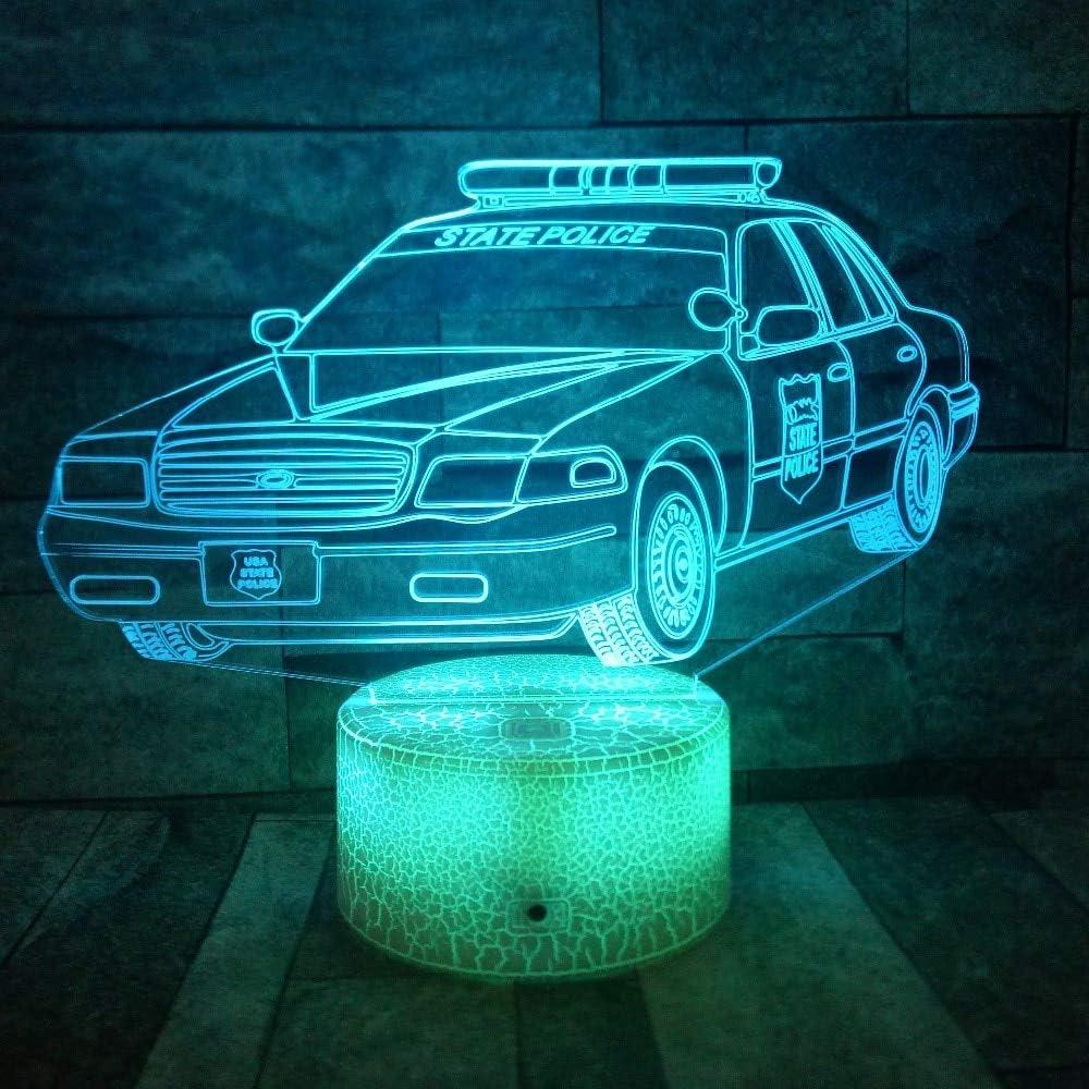 3D LED Night Light Cars Modelo 3d Lámpara de mesa Niños Regalo ...