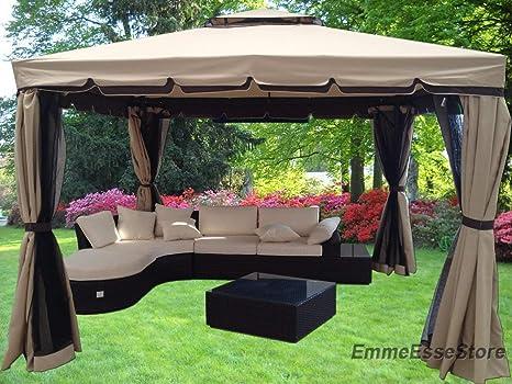 Michele sogari gazebo giardino in alluminio con copertura