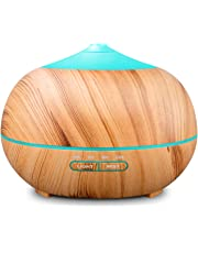 TENSWALL 400ml Wood Grain Essential Oil Diffusers Ultrasonic Humidifier