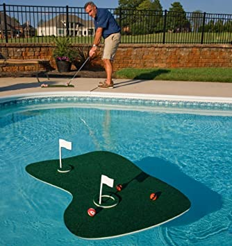 Top Rated Best Selling Pool Patio Deck Water Golf Game Challenge With  Floating Green Two Golf