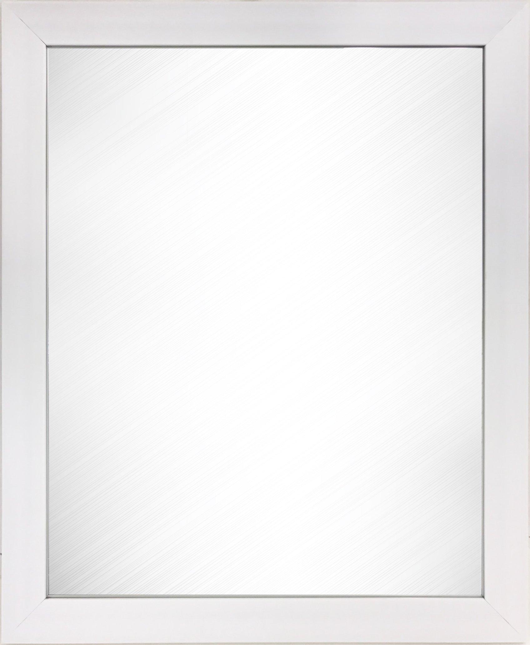 Wee's Beyond 2871WHITE 2871white Wee's beyond 2871white Wall Mount Rectangular Dressing Mirror White by Wee's Beyond