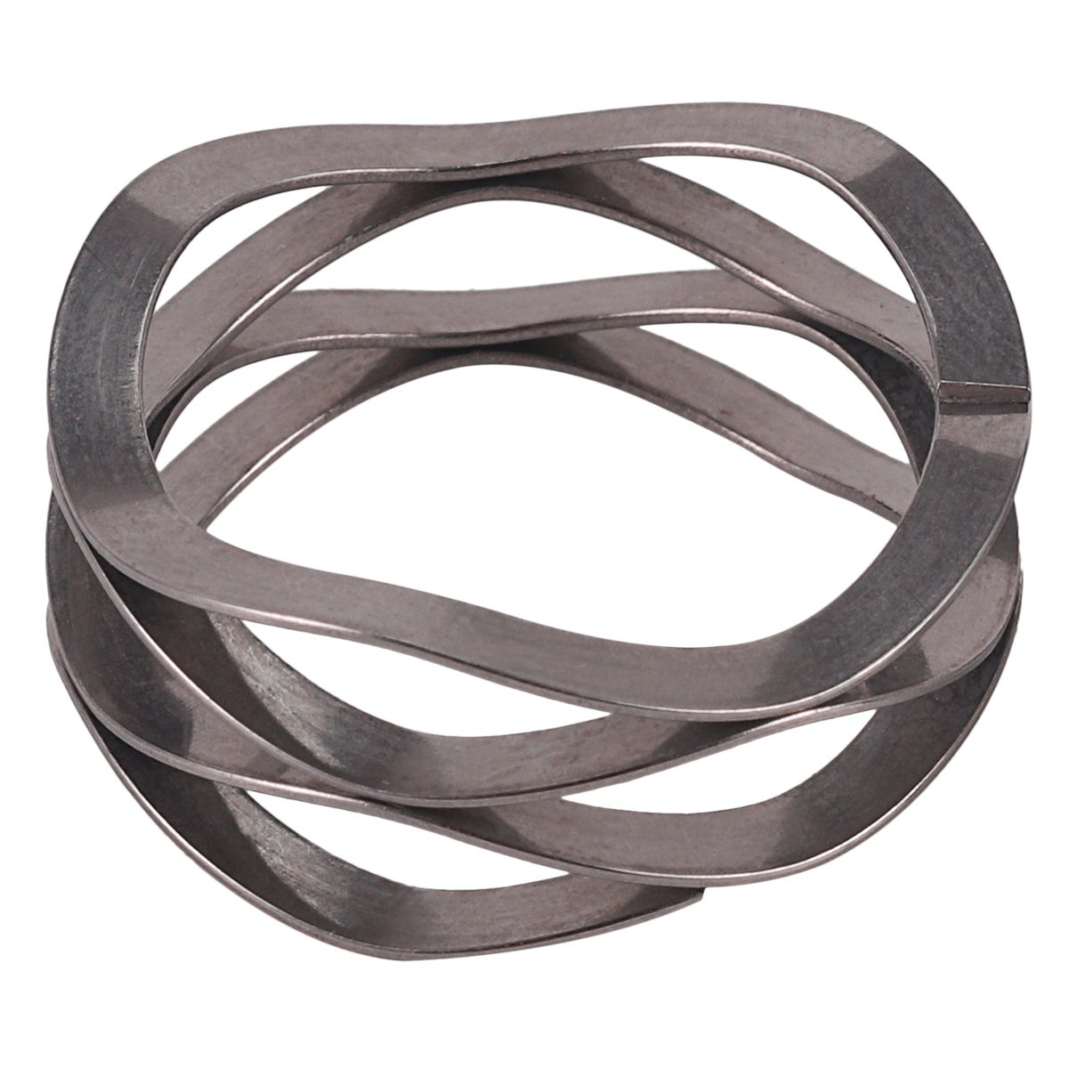 157lbs//in Spring Rate Multiwave Washers,Stainless/_Steel/_17-7/_PH,C100-H2,LW 100 25 0333S 0.73 ID 1 OD 0.015 Thick 25lbs Load Capacity@Spring height0.17 Pack of 5 0.015 Thick 0.73 ID Polished,Inch 25lbs Load Capacity@Spring height0.17, 1 OD