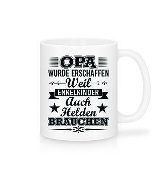 Amazon De Lustige Kaffee Tasse Mit Spruch I Opa Enkelkinder Helden