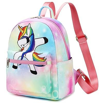 White BLUBOON Backpack for Girls Preschool Backpack Kids Kindergarten Bookbag Toddler Travel Bag Water Resistant Schoolbag