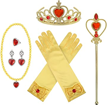 Tiara Rosa /& Bacchetta Magica Set Principessa Child Costume Accessorio Giocattolo piuttosto