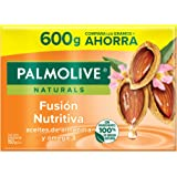 Palmolive Naturals Jabón de Tocador en barra Aceites de Almendra y Omega 3, Fabricado responsablemente, Fragancia con ingredi