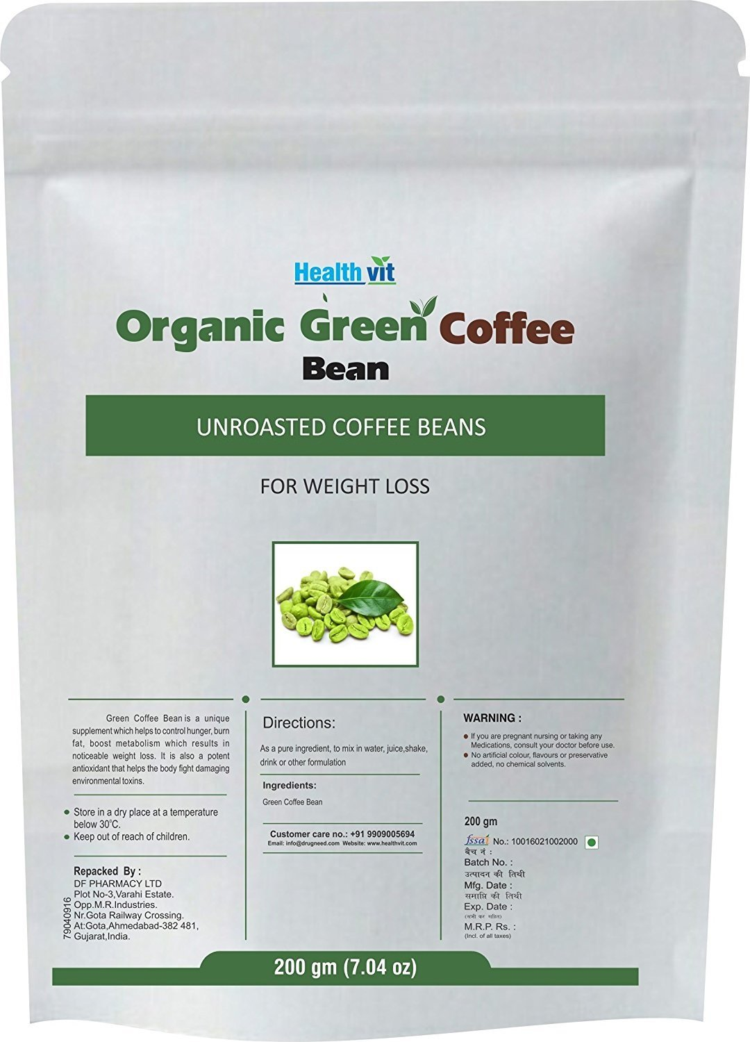 Buy Healthvit Organic Decaffeinated Unroasted Green Coffee Beans Greeb Vit 200 G Online At Low Prices In India