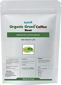 HealthVit Organic Decaffeinated Unroasted Green Coffee Beans - 200 g