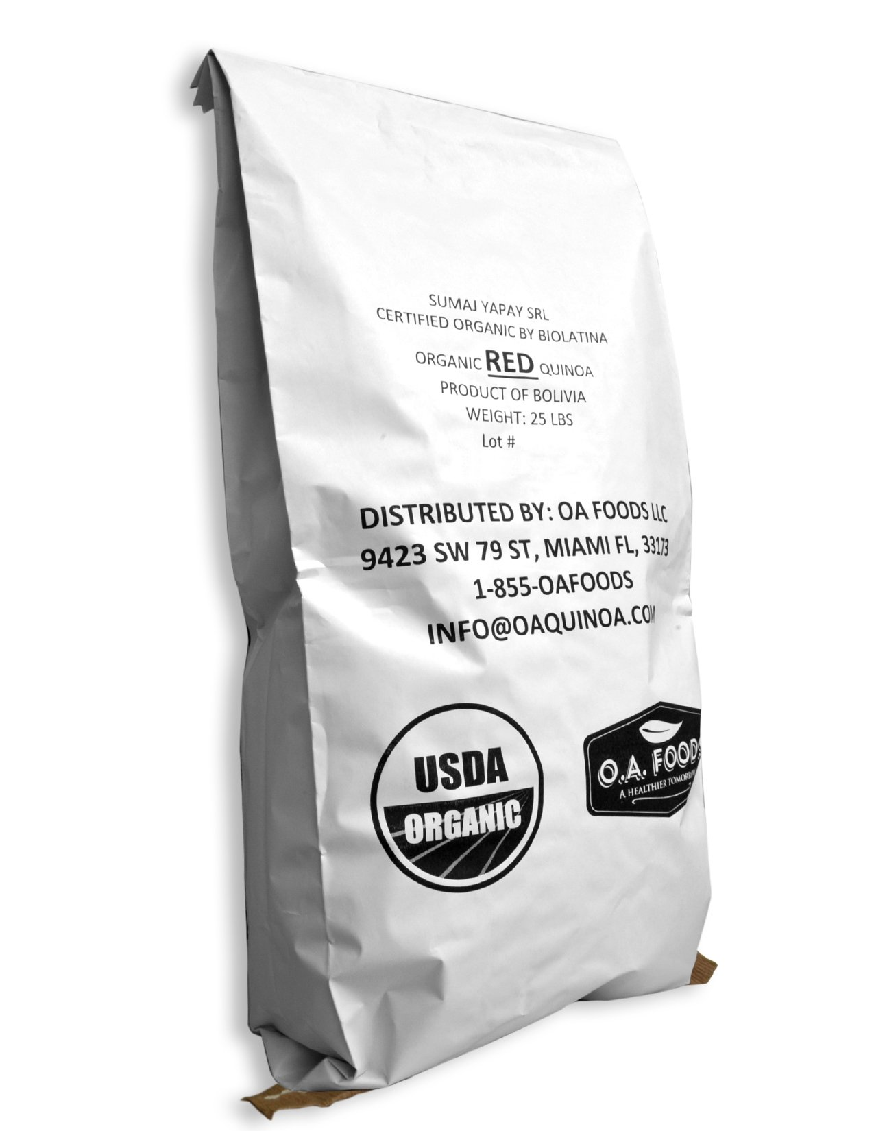 Royal Organic Red OA Quinoa (25 Lb bag)