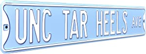 "Authentic Street Signs 70046 Unc North Carolina Tarheels Ave, Heavy Duty, Metal Street Sign Wall Decor, 36"" x 6"""