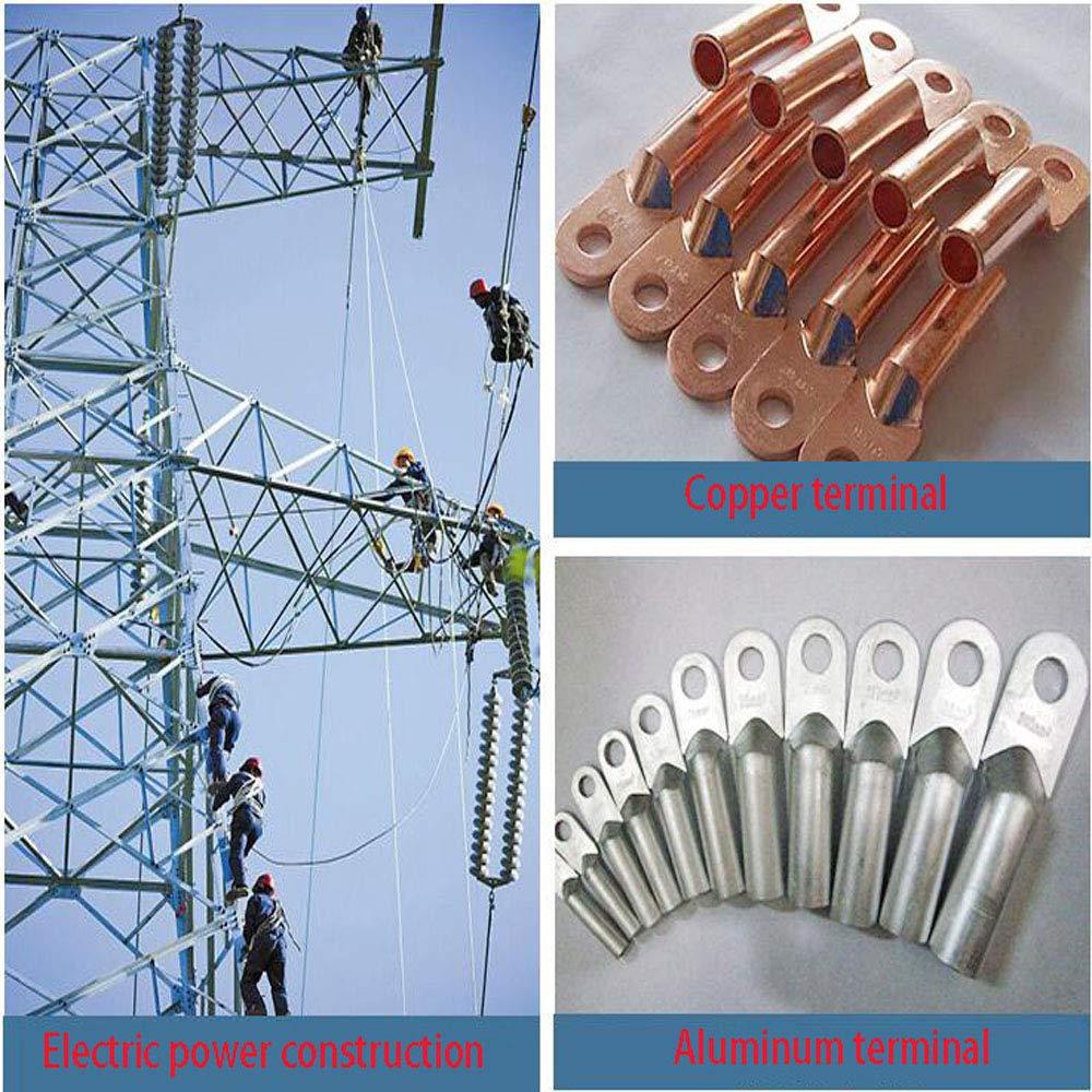Crimpadora Hidr/áulica Herramienta Prensa para Terminal de Cables Electricista Hidr/áulica Tenazas Presi/ón de Trabajo 6t 4-70 mm/²