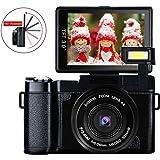 Digital Camera Vlog Camera Full HD 1080p 24.0MP Camcorder Vlogging camera With 3.0 Inch Flip Screen Camera Retractable Flashlight