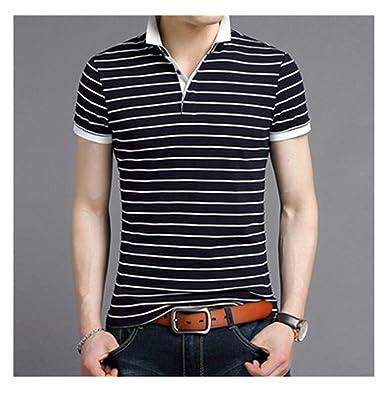 cb8a800201a Giles Abbot Summer Men Polo Shirt Fashion Business Casual Male Polos  Striped Tee Shirt for Man