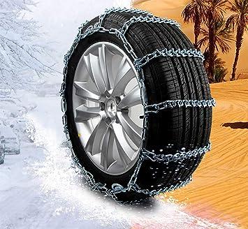 QINUO Cadenas de neumáticos para Nieve para Autos: Cadena de tracción de neumáticos para Camiones livianos, Juego de 2: Amazon.es: Deportes y aire libre