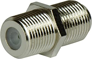 Legrand - On-Q AC3006-50 F-Type Coupler, RG6 Coax Connector, F-Type Coax Cable Extension Adapter – 50 Pack, Nickel