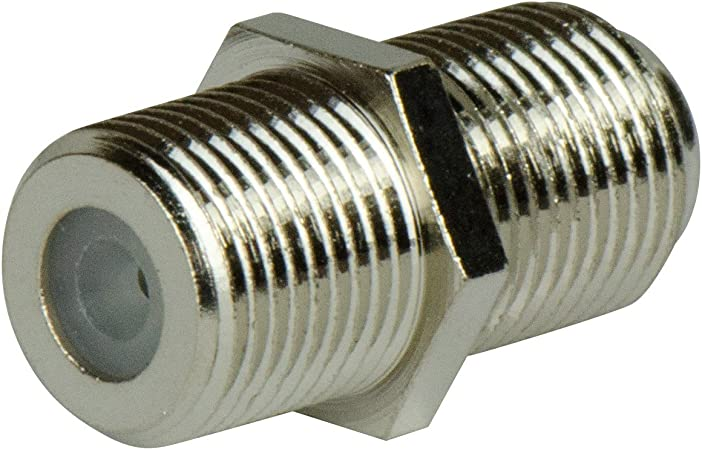 20 RCA Barrel Butt Connector Coupler Adapter Female to Female Black Brass Nickel