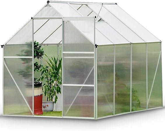 HIMAmonkey Invernadero de jardín vivero casero Plantas Cultivos - policarbonato Transparente Aluminio casero Plantas Cultivos,286X216X220CM: Amazon.es: Hogar