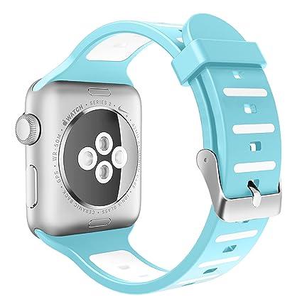 Tounique - Correa de Reloj para Apple Watch, Doble Color, Diseño ...