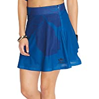adidas Womens Originals Floral Engraving Skirt in Blue