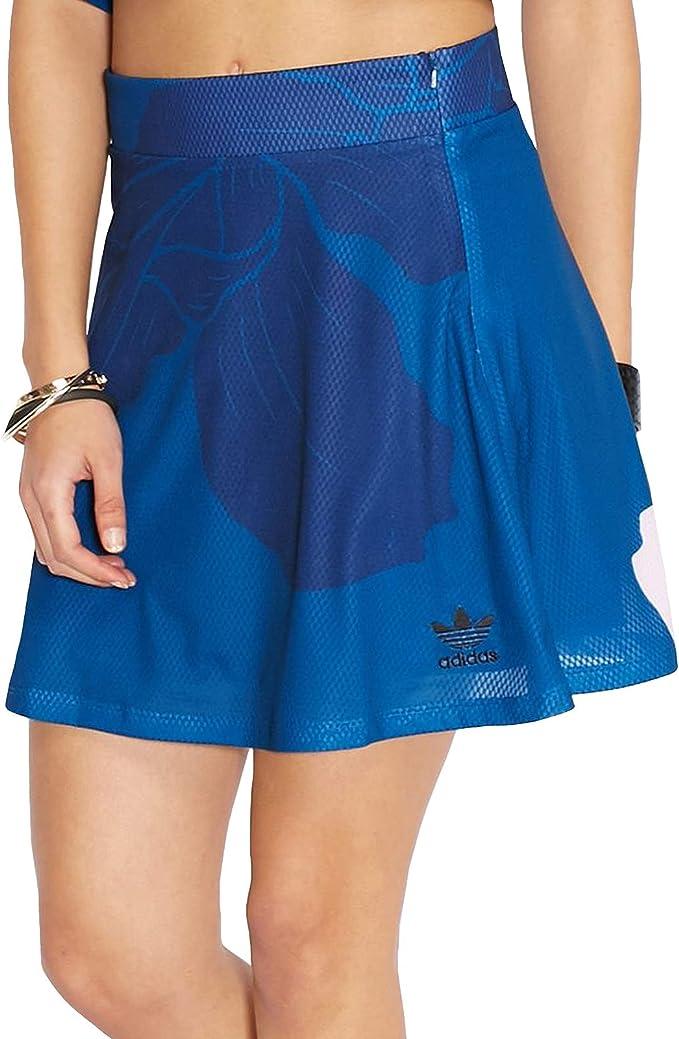 adidas Originals - Falda Mujer - Floral - Azul Marino/Verde/Rosa ...