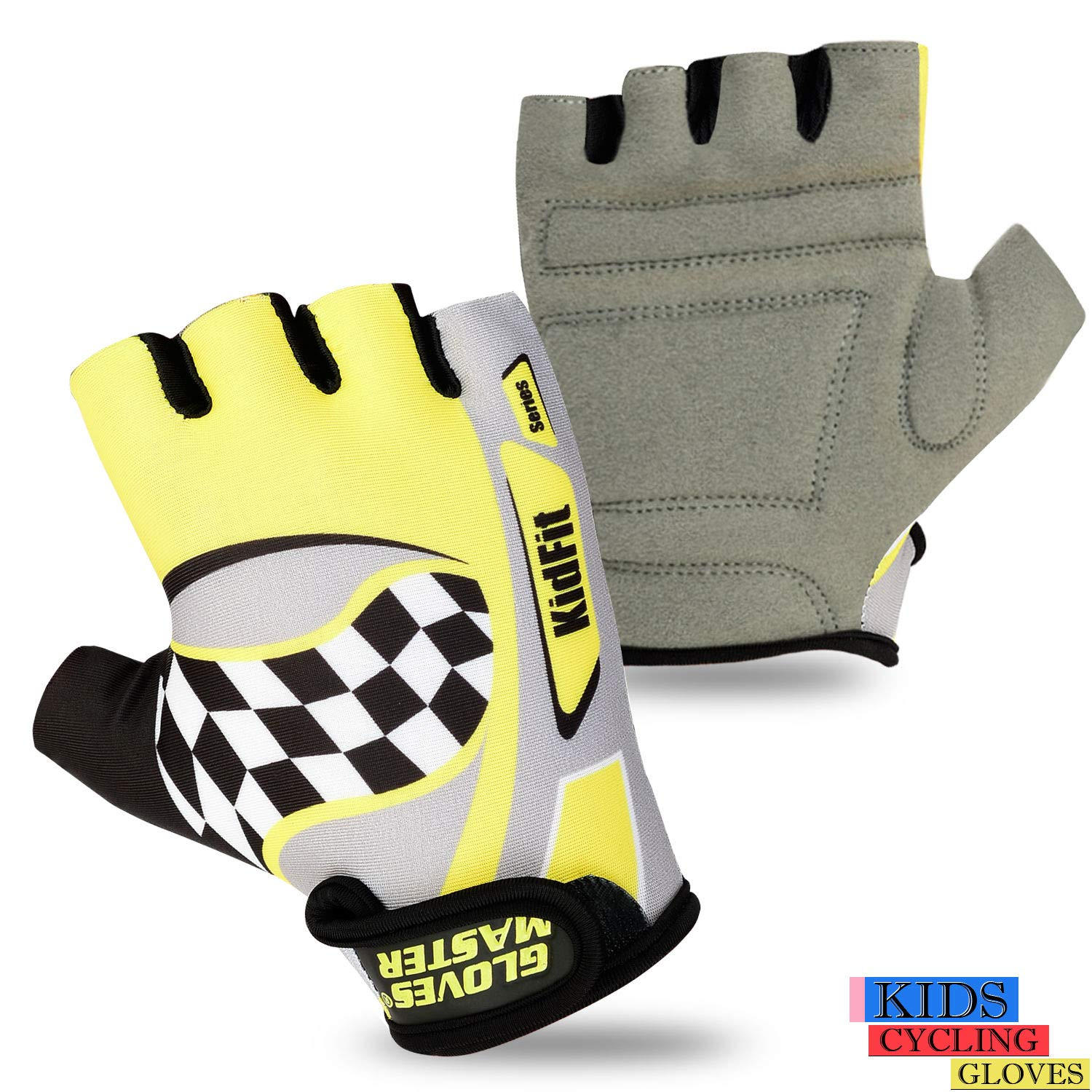 Gloves Master Kids Cycling Padded Gloves Bicycle Cycle BMX Gloves Children Youth Junior