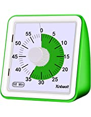 Yunbaoit Minuteur analogique visuel, compte à rebours silencieux, outil de gestion du temps pour enfants et adultes