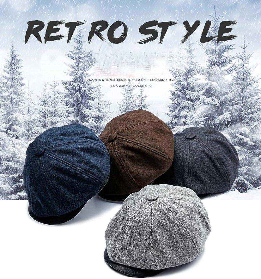 Newsboy Style Flat Cap Mens Gatsby Hat 8 Panel Baker Boy Tweed Cap Peaky Hat