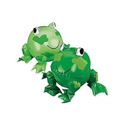 Fun Express - Inflate Frog Beach Balls - Toys - Inflates - Inflatable Characters - 12 Pieces: Toys & Games