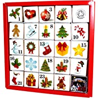 """English Tea Shop - Tee Adventskalender """"Christmas Ornaments"""", 25 einzelne Boxen mit würzigen BIO-Tees in hochwertigen Pyramiden-Teebeutel"""
