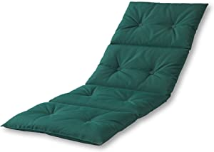 Greendale Home Fashions AZ7910-FORESTGREEN Leaf Green Outdoor Chaise Pad