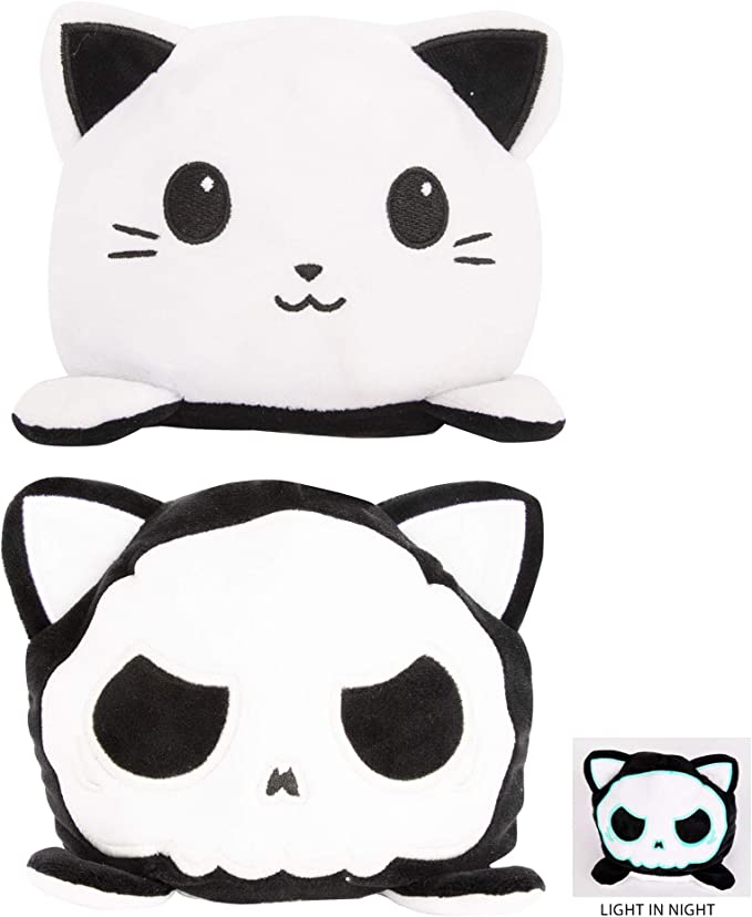 Amazon.com: Reversible Toy Glowing Cat, Double-Sided Reversible Expressions Plushie Doll Gifts, Plush Toy with Vivid Expression, Show Your Mood (Luminous Kitten): Toys & Games