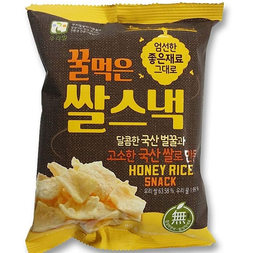 Korean honey Rice snack 80g 2 bags