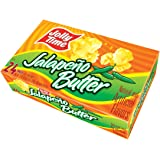 Jolly Time Jalepeno Butter Spicy Gourmet Hot Pepper Microwave Popcorn, 24 Count