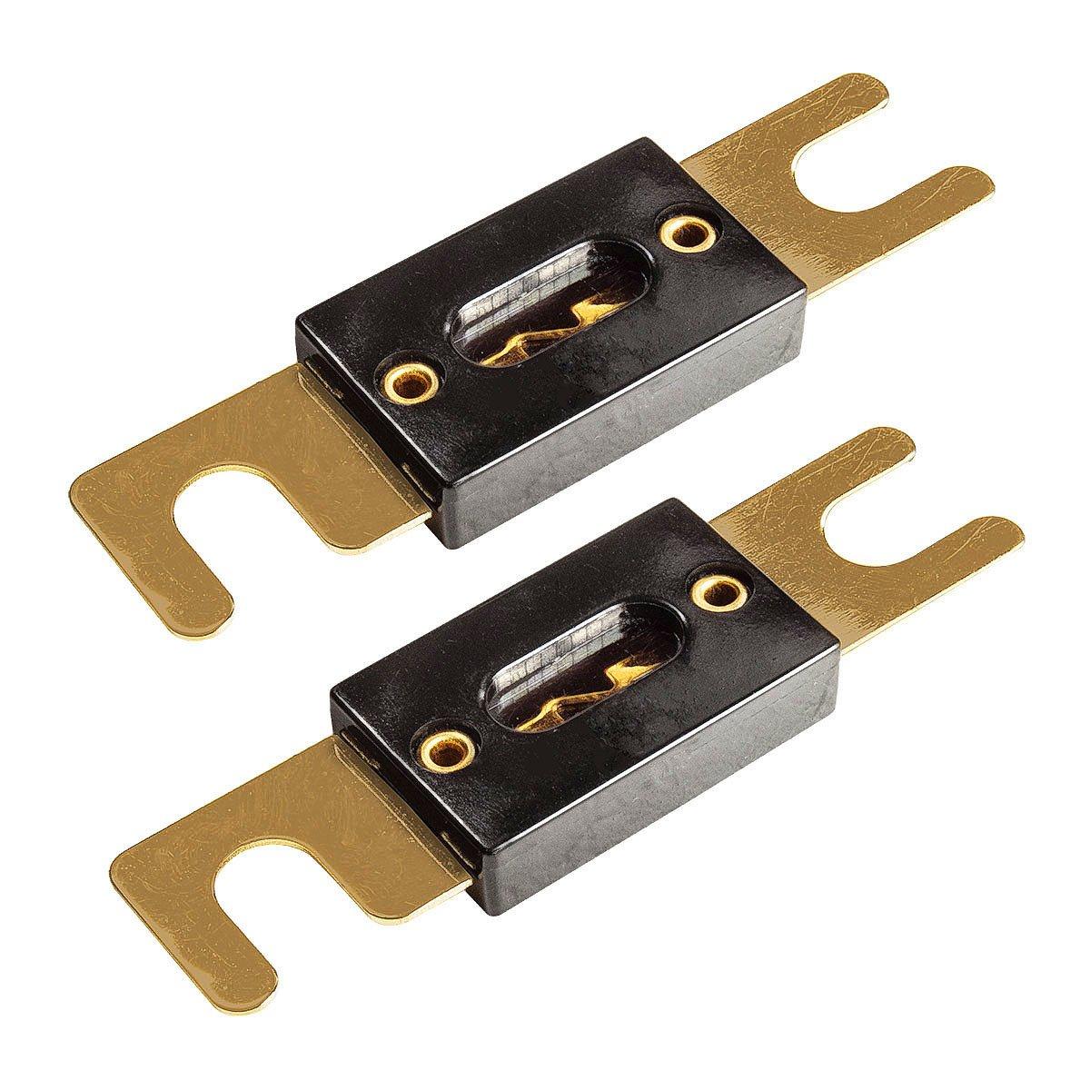 tomzz Audio 5800-038 ANL Sicherung 250A, vergoldete Kontakte, 2 Stü ck