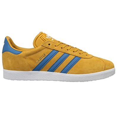 adidas Mens Gazelle Nomad Yellow Core Blue Suede Trainers 40