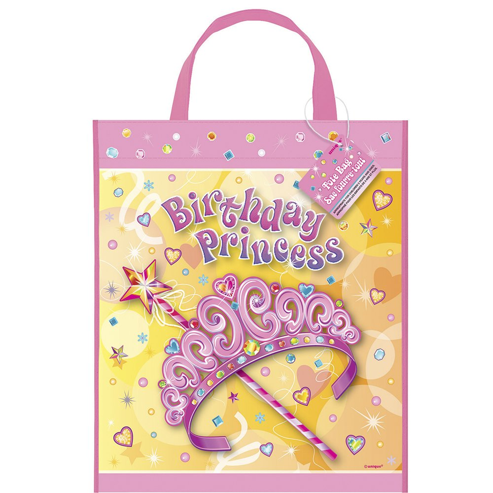 13 x 11 Large Plastic Pretty Princess Favor Bag
