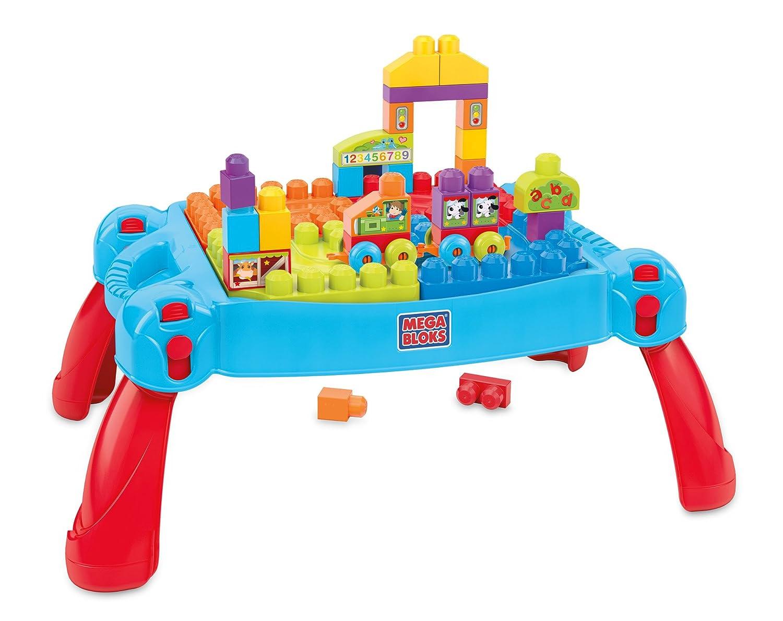 - Amazon.com: Mega Bloks Build 'n Learn Table Building Set: Toys & Games