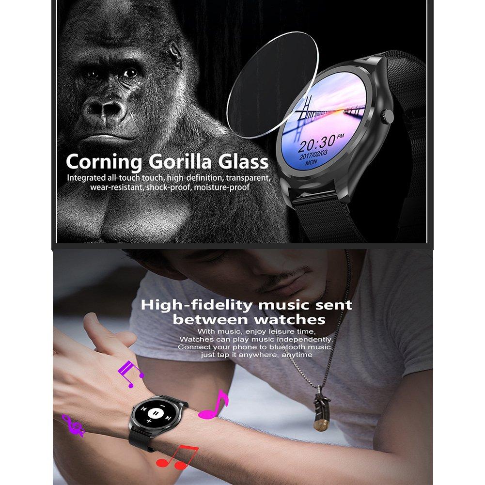RQINW Pulsera Actividad Impermeable Smartwatch,Reloj Deportivo Inteligente Fitness Tracker Natación Actividad Pantalla A Color Monitor De Frecuencia ...